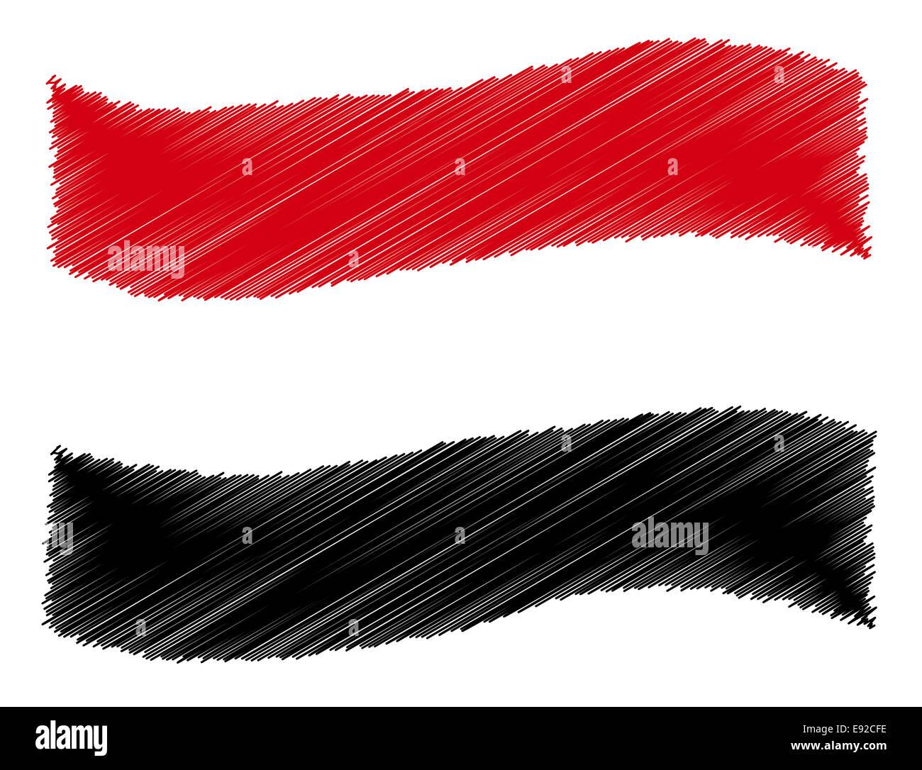 Sketch - Yemen - Stock Image