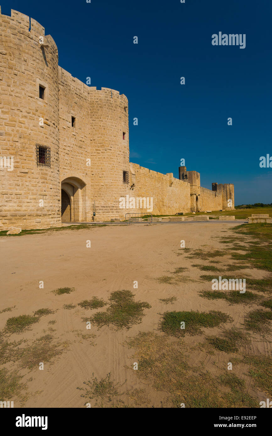 Aigues Mortes Old City Wall Gate V - Stock Image