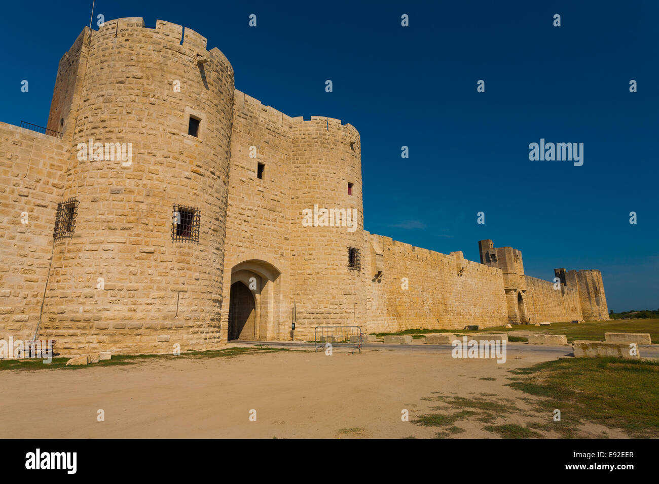 Aigues Mortes Old City Wall Gate H - Stock Image