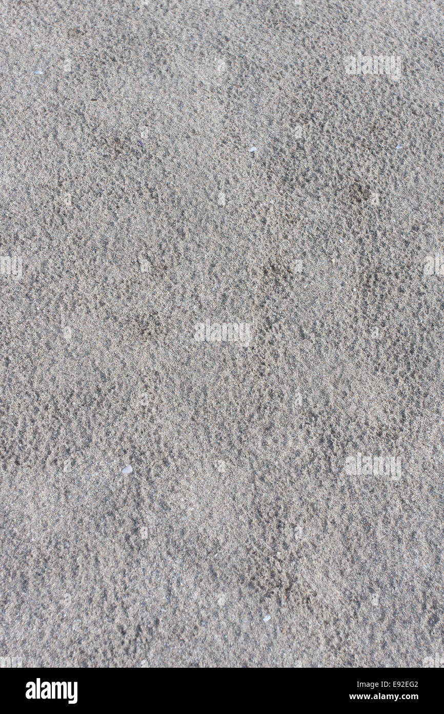 gray non-uniform dirty and dry sand - Stock Image
