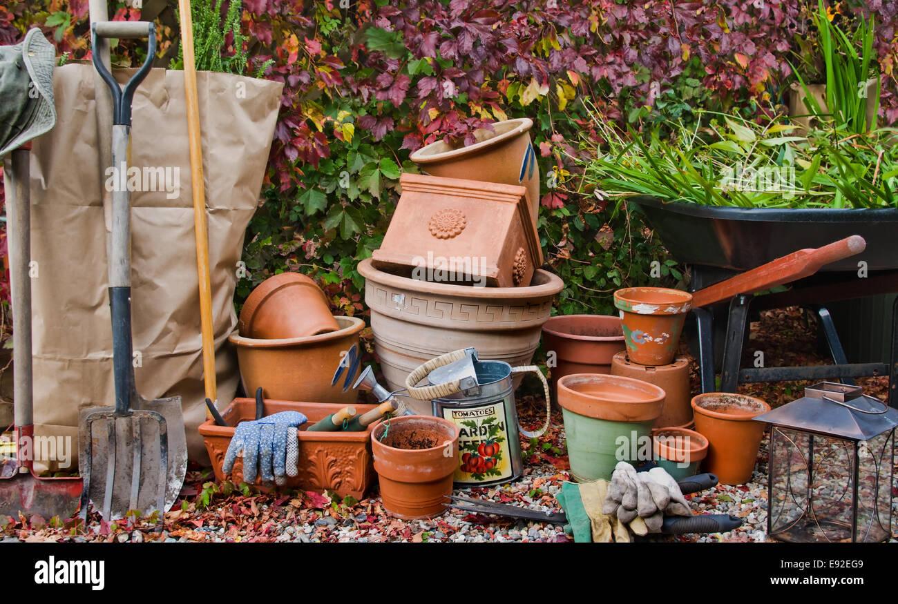 Closing the Garden - Stock Image