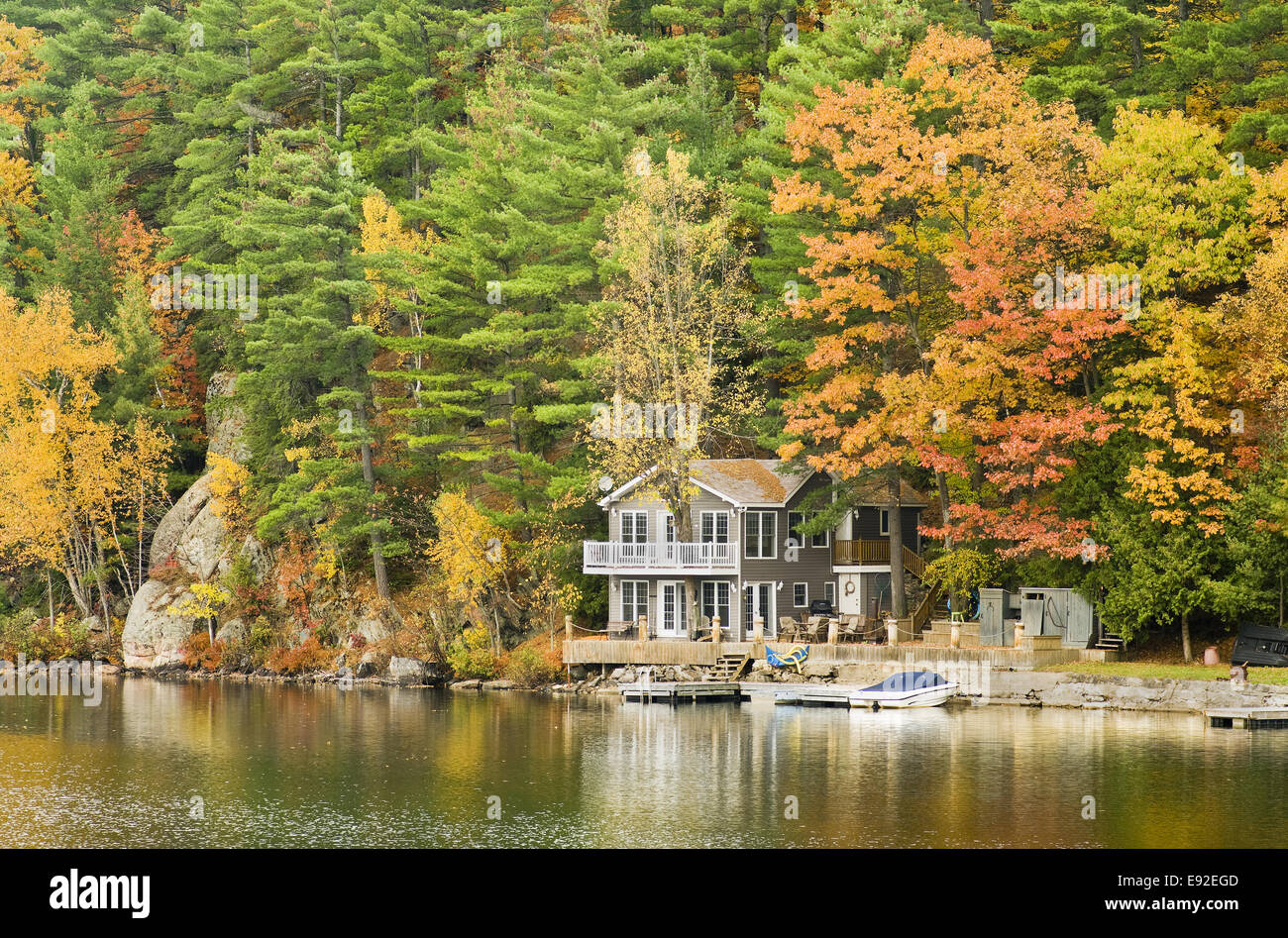 Autumn Getaway - Stock Image