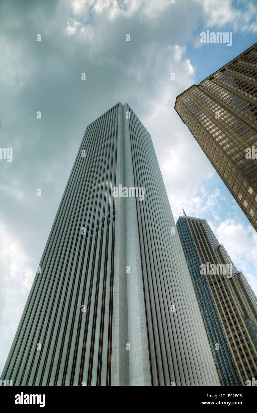 Skyscrapers in the downtown Chicago, Illinois - Stock Image