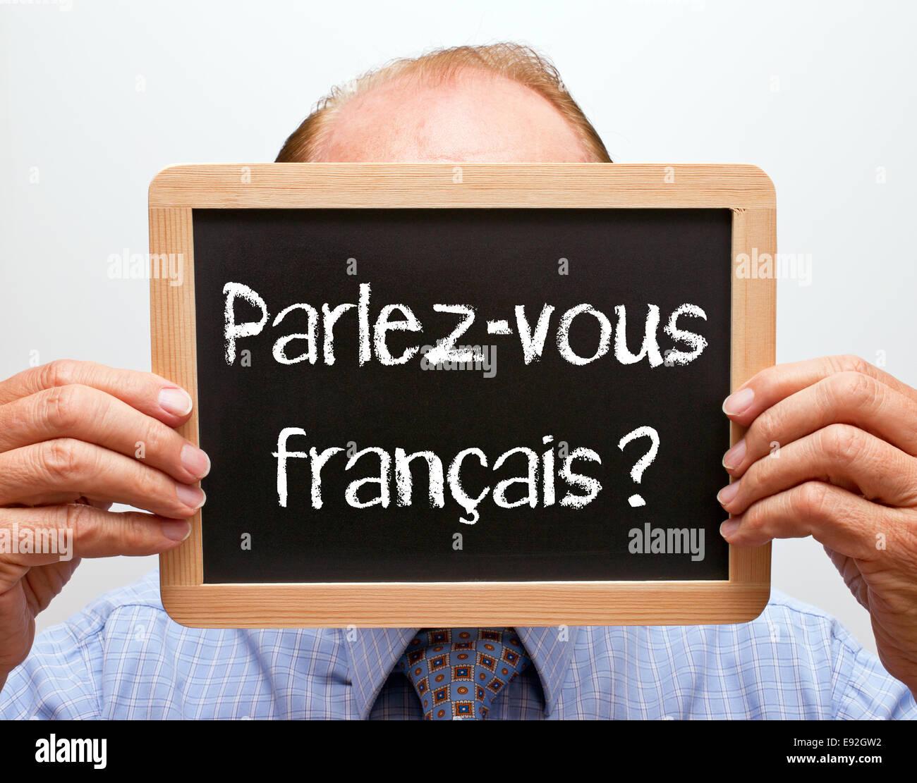 Parlez-vous français ? Stock Photo