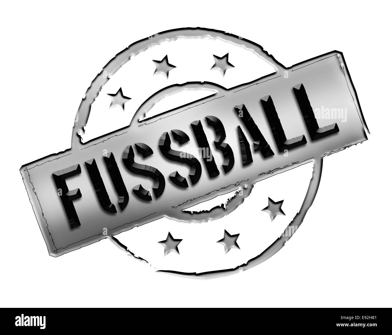 Stamp - FUSSBALL - Stock Image