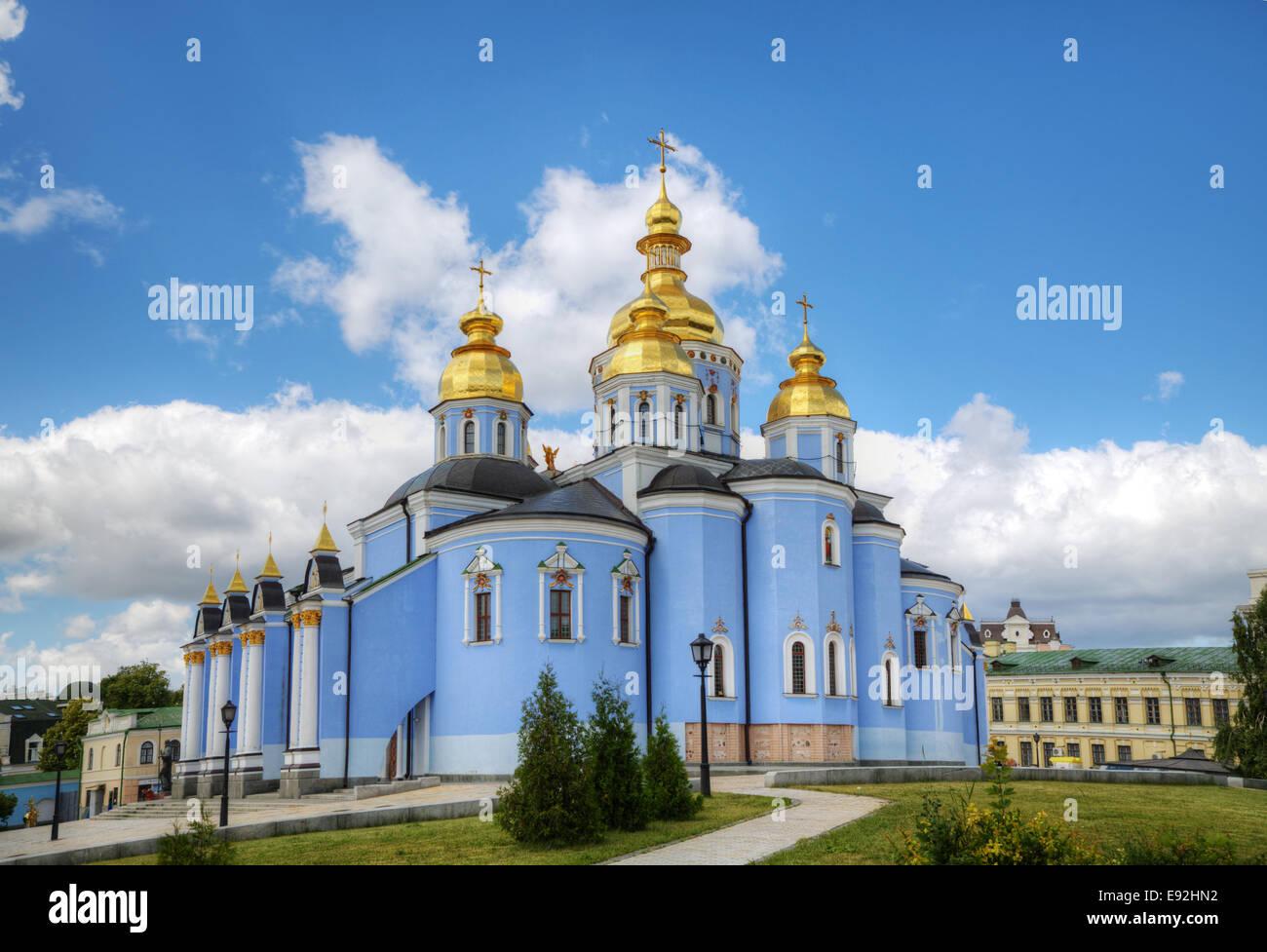 St. Michael monastery in Kiev, Ukraine - Stock Image