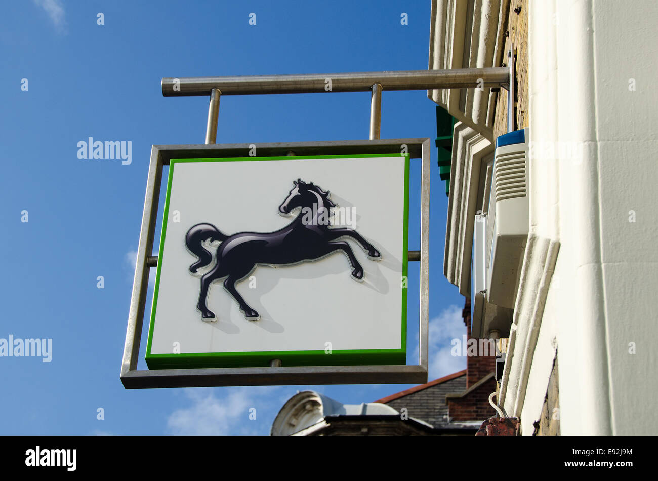 Lloyds Bank sign in the High Street at Broadstairs, Kent UK. - Stock Image