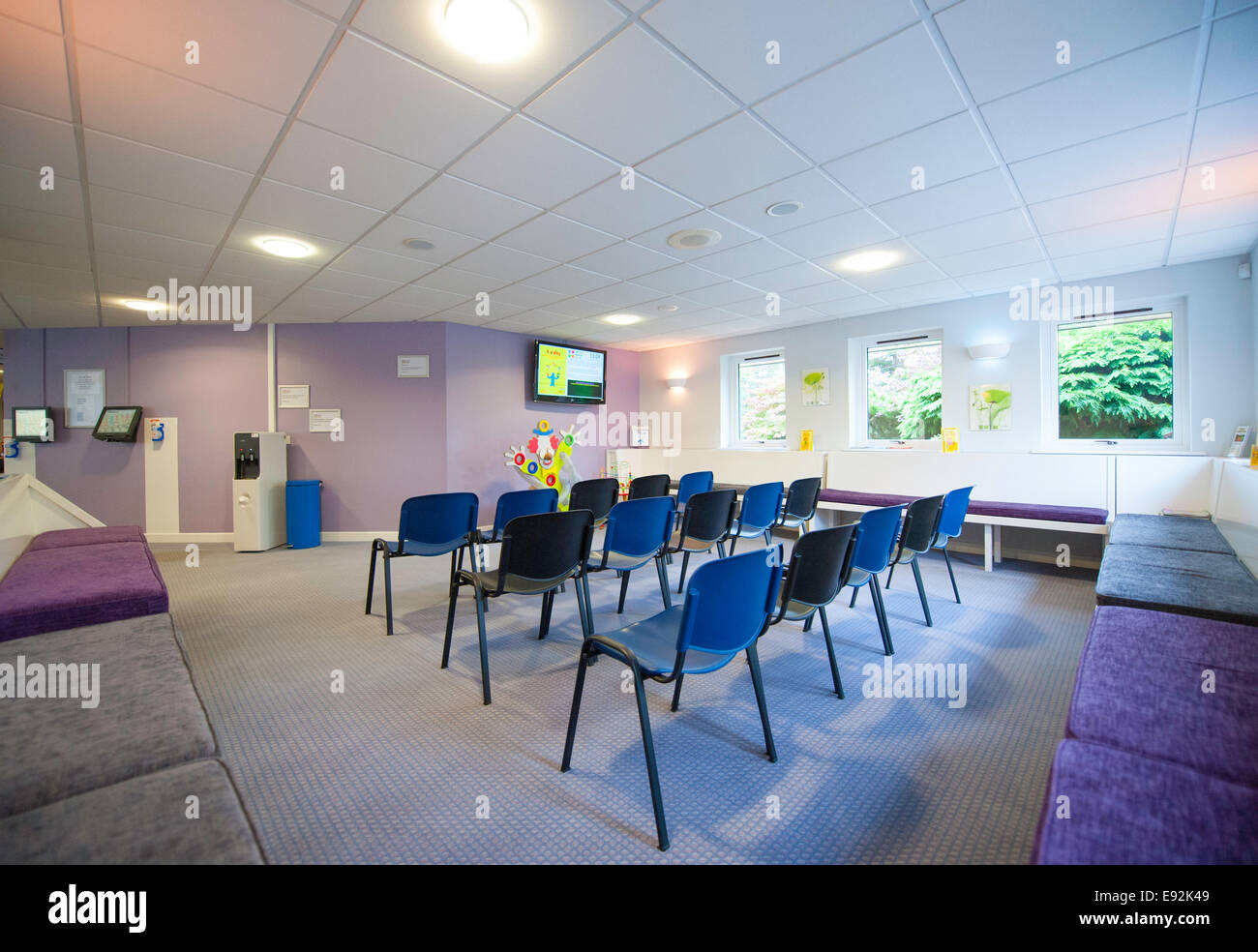 Doctor's waiting room private healthcare - Stock Image