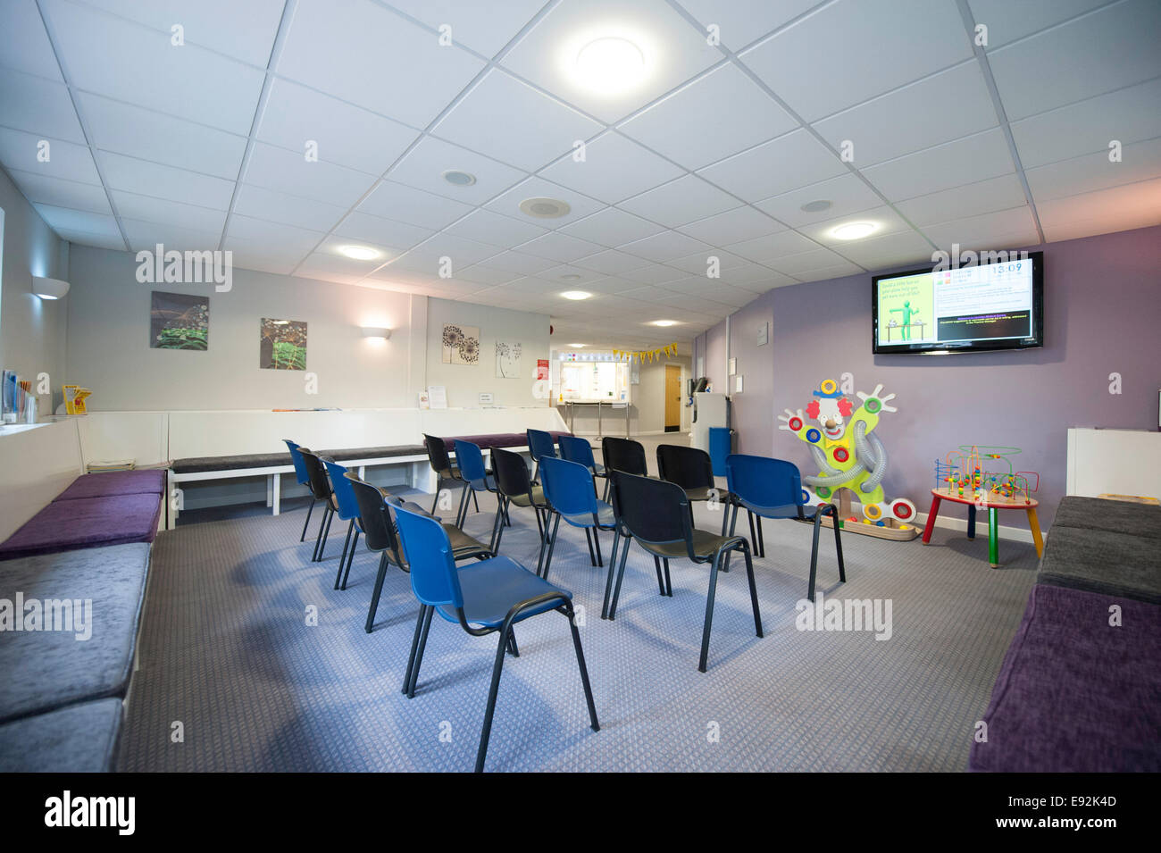 Health Centre  waiting room NHS - Stock Image