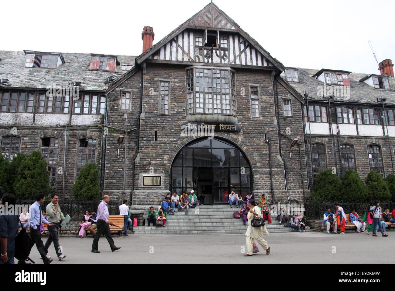 Shimla Town Hall on the Mall Road - Stock Image