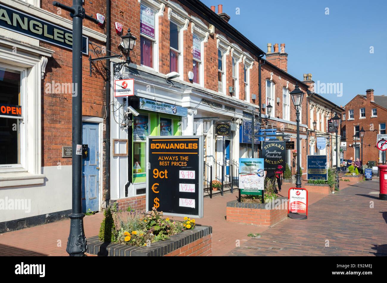 A Row Of Jewellery Shops On Vyse Street In Birminghams Quarter Hockley