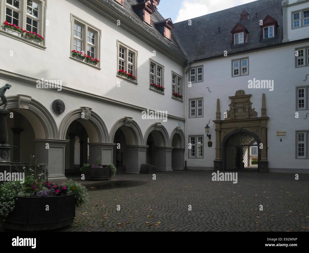Koblenz Rathaus Town Hall Germany EU Jesuiten Platz an old historic city Rhine Gorge UNESCO World Heritage Site Stock Photo