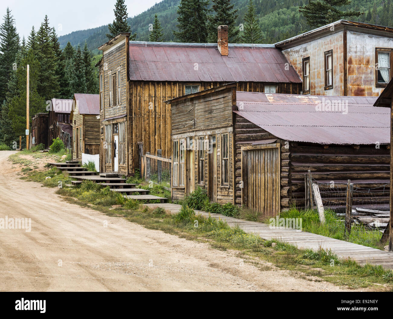 Old Ghost Town of St Elmo in Colorado, USA - Stock Image