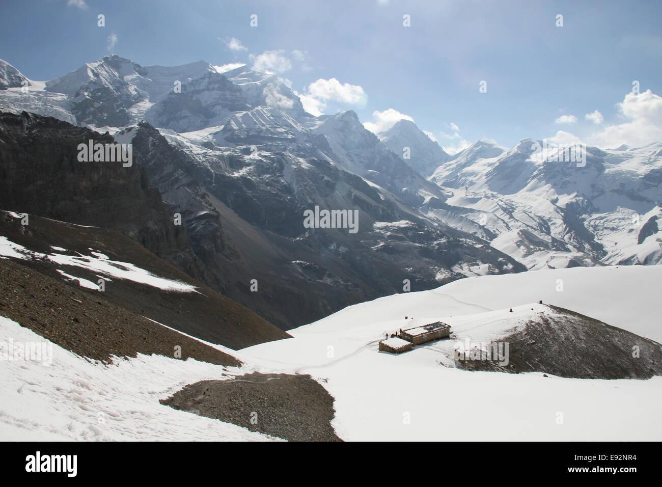 Yakawa Thorung Ri Teashop, Himalaya, Annapurna Circuit - Stock Image