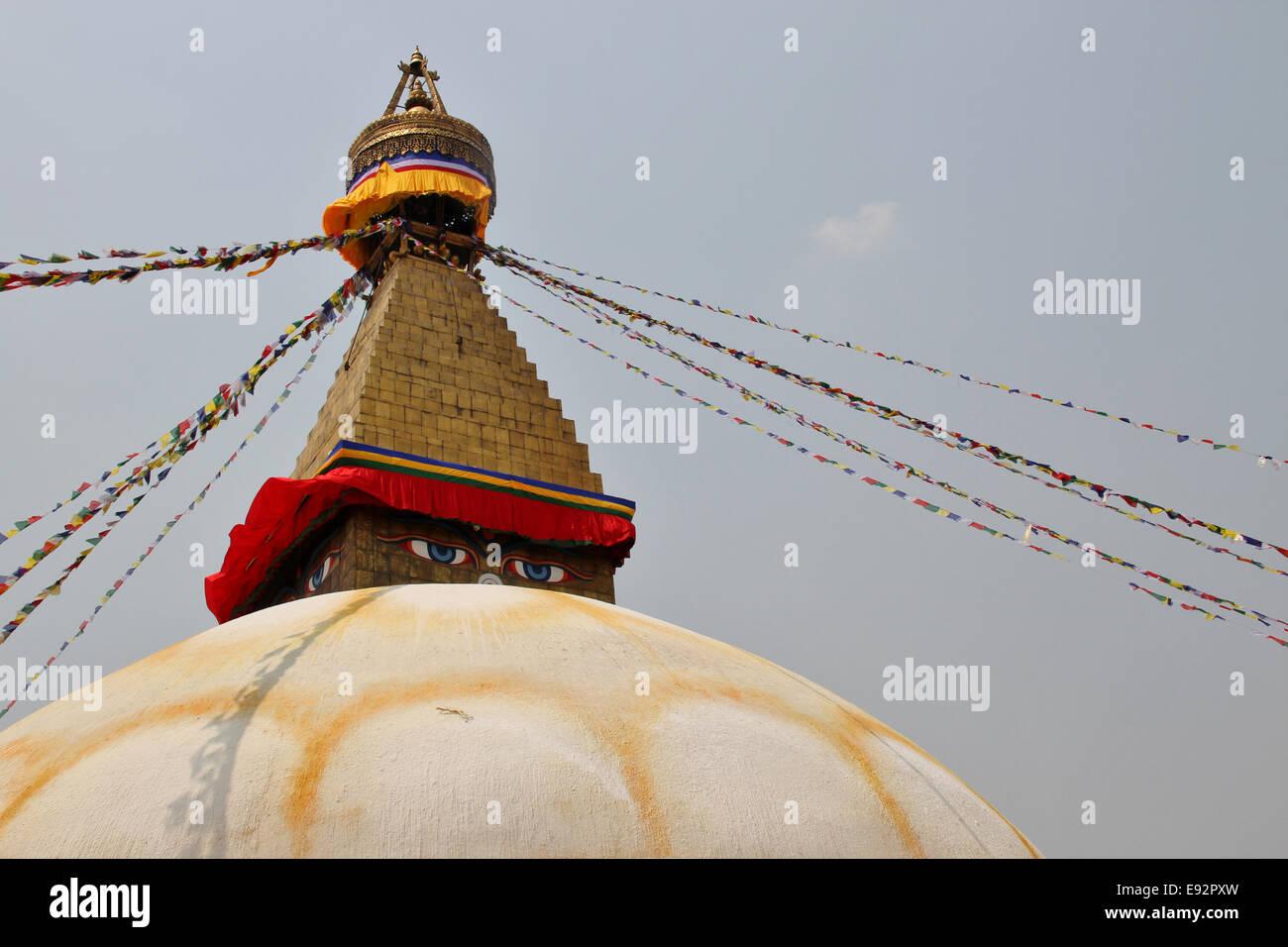 Bodhnath Stupa, Kathmandu, Nepal - Stock Image