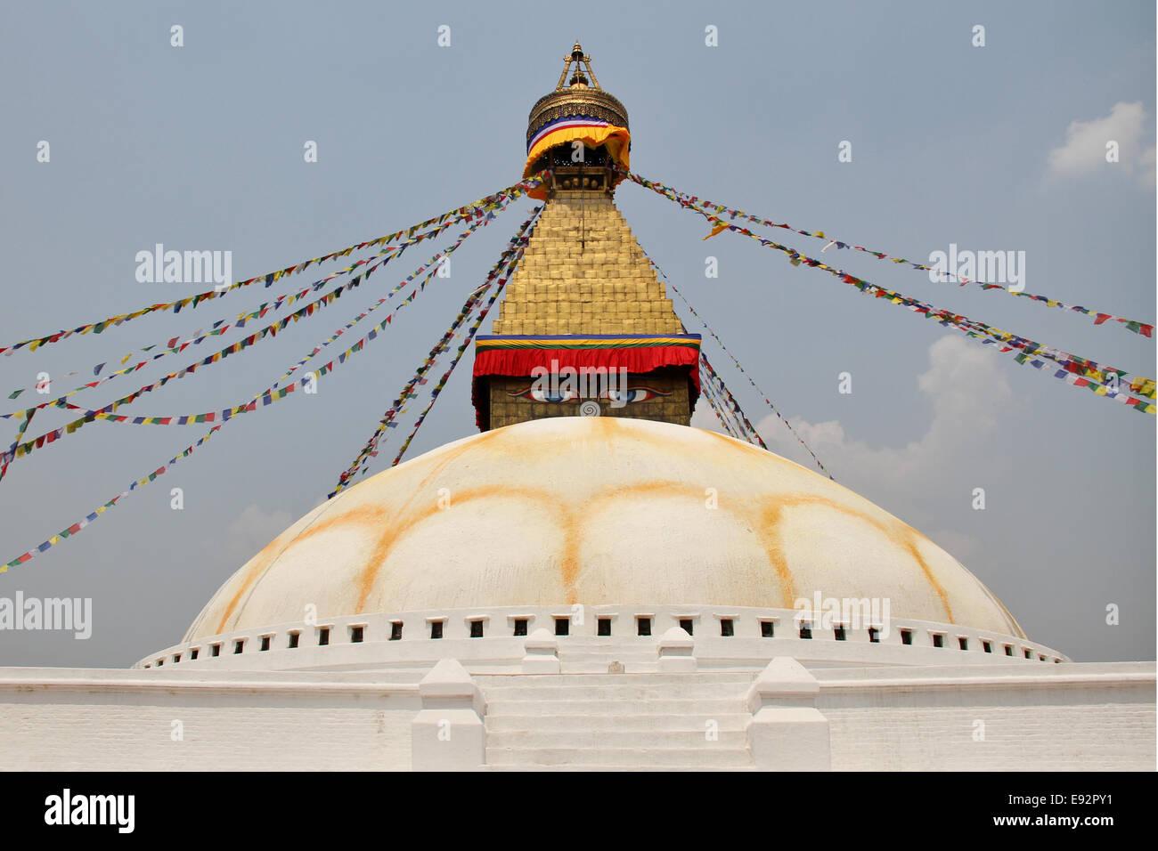 Bodhnath Stupa, Kathmandu Valley, Nepal - Stock Image
