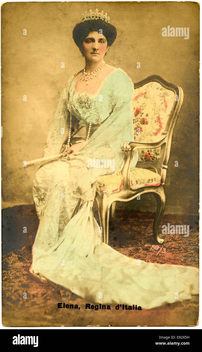 Elena of Montenegro (1873-1952), Queen of Italy (1900-1946), Portrait, circa 1900 - Stock Image