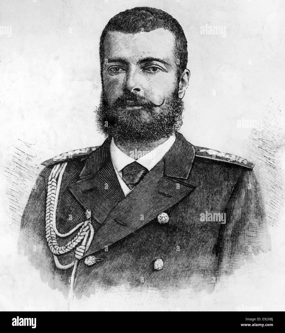 Grand Duke Alexander Mihailovich (1866-1933), Portrait, circa 1890's - Stock Image