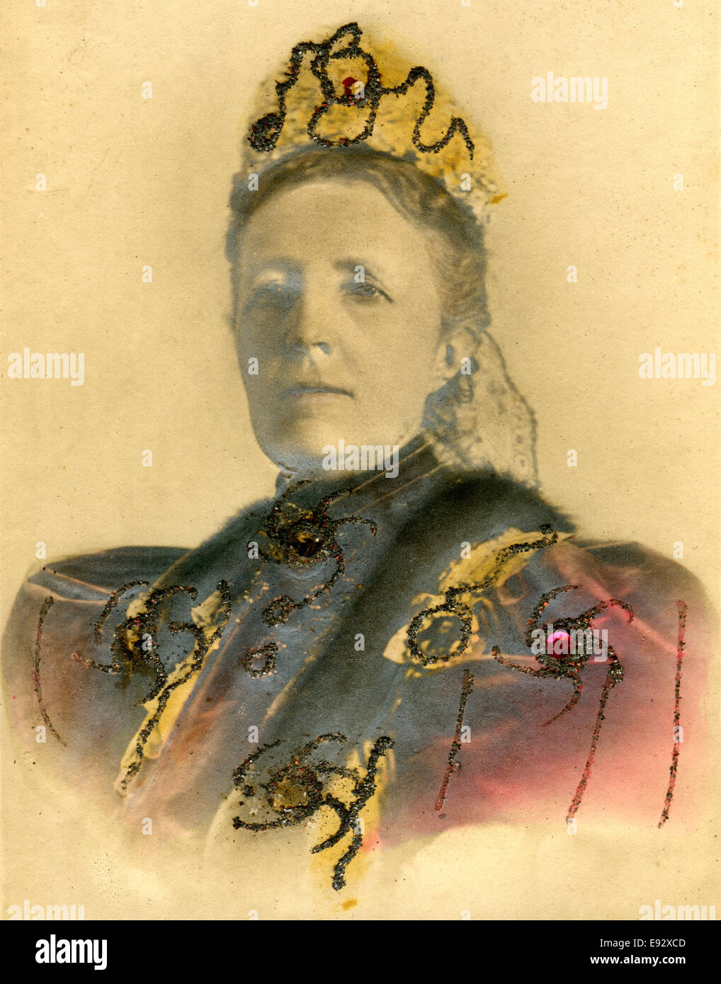 Sophia of Nassau (1836-1913), Queen Consort of Sweden, Portrait, circa 1900 - Stock Image