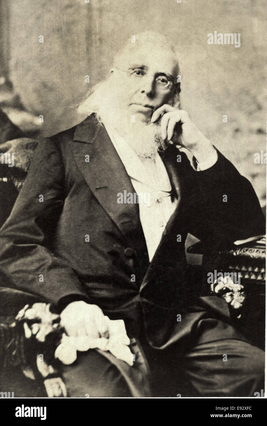 Peter Cooper (1793-1881), American Industrialist, Inventor, Philanthropist, and Candidate for President of the United - Stock Image