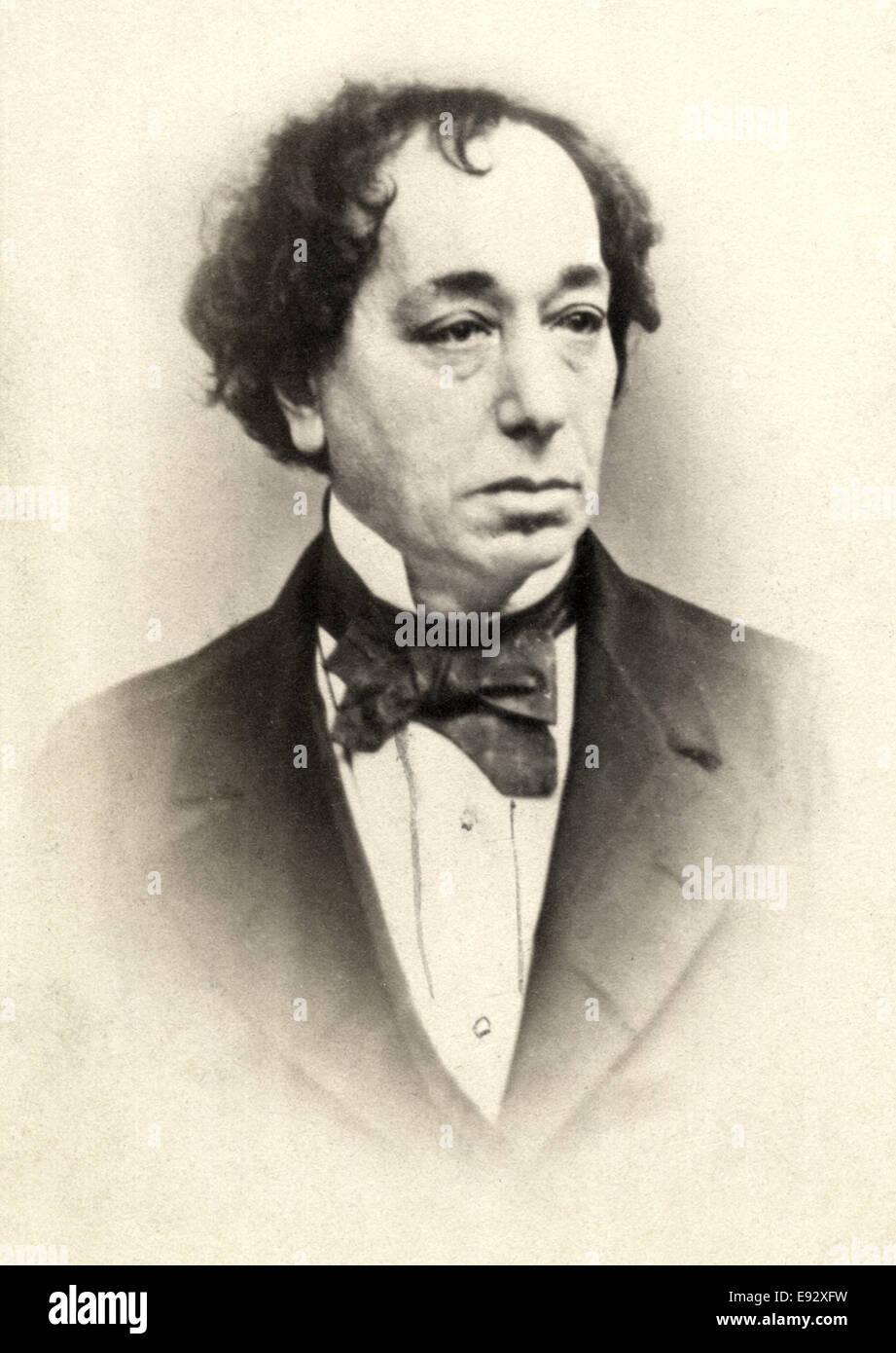 Benjamin Disraeli (1804-1881), British Politician and Prime Minister of the United Kingdom, Portrait, circa 1870 Stock Photo