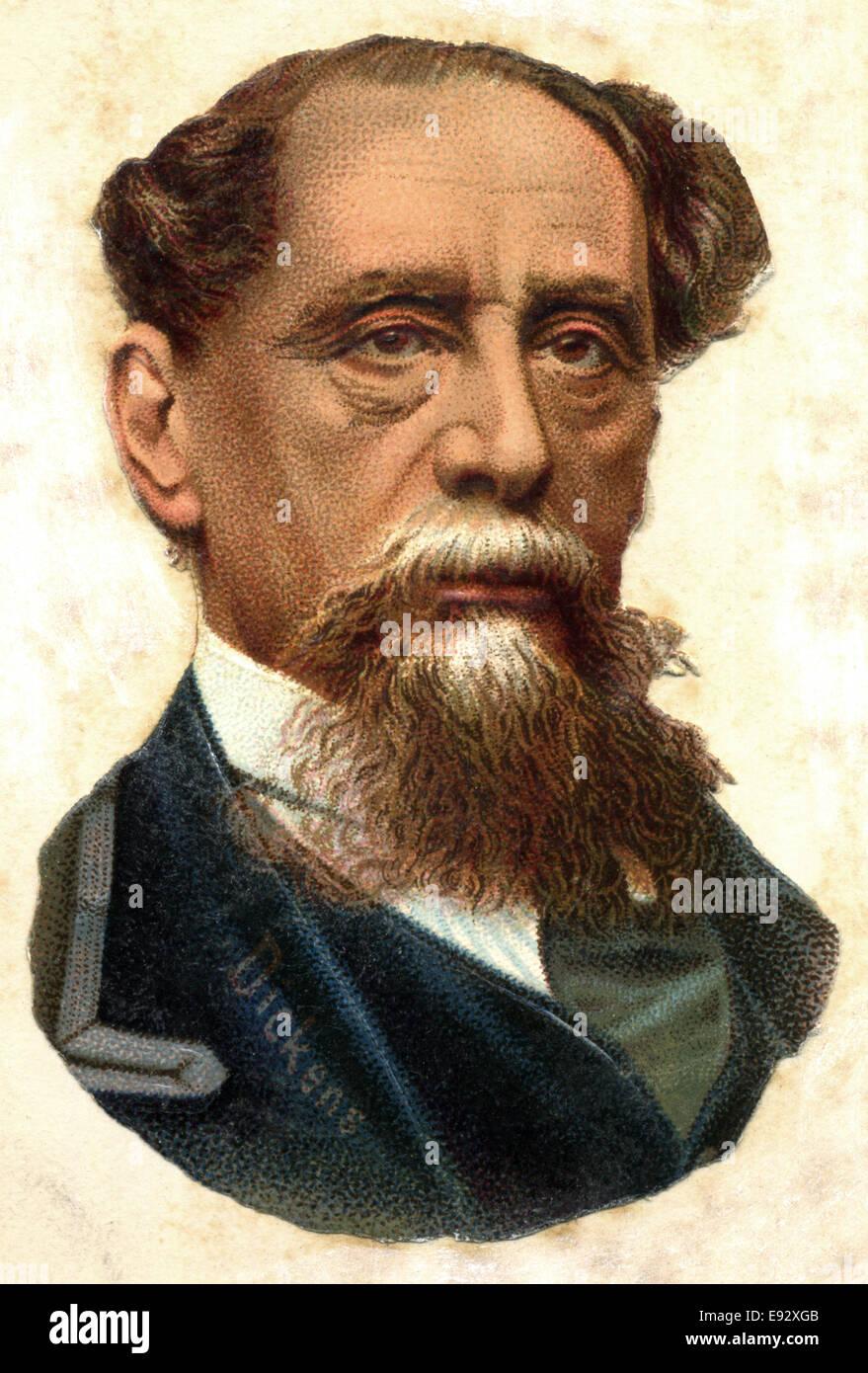 Charles Dickens (1812-1870), English Writer, Portrait Stock Photo