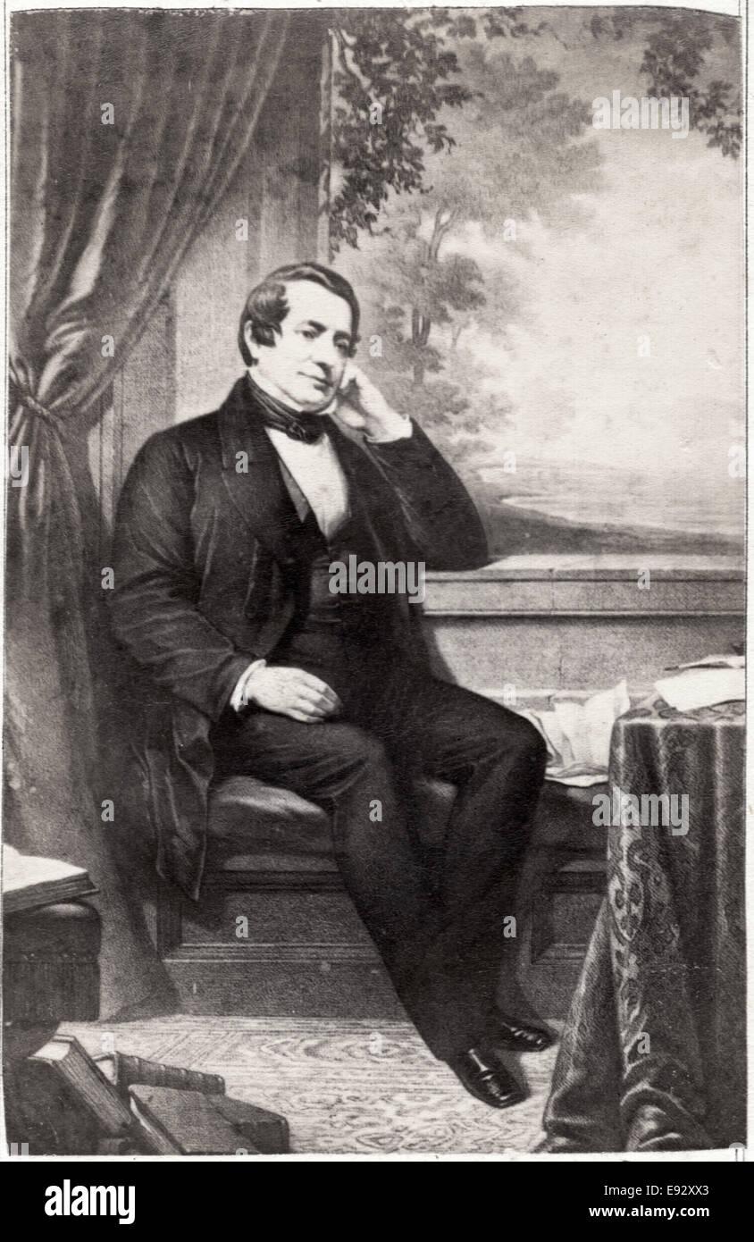 Washington Irving (1783-1859), American Writer and Diplomat, Portrait - Stock Image