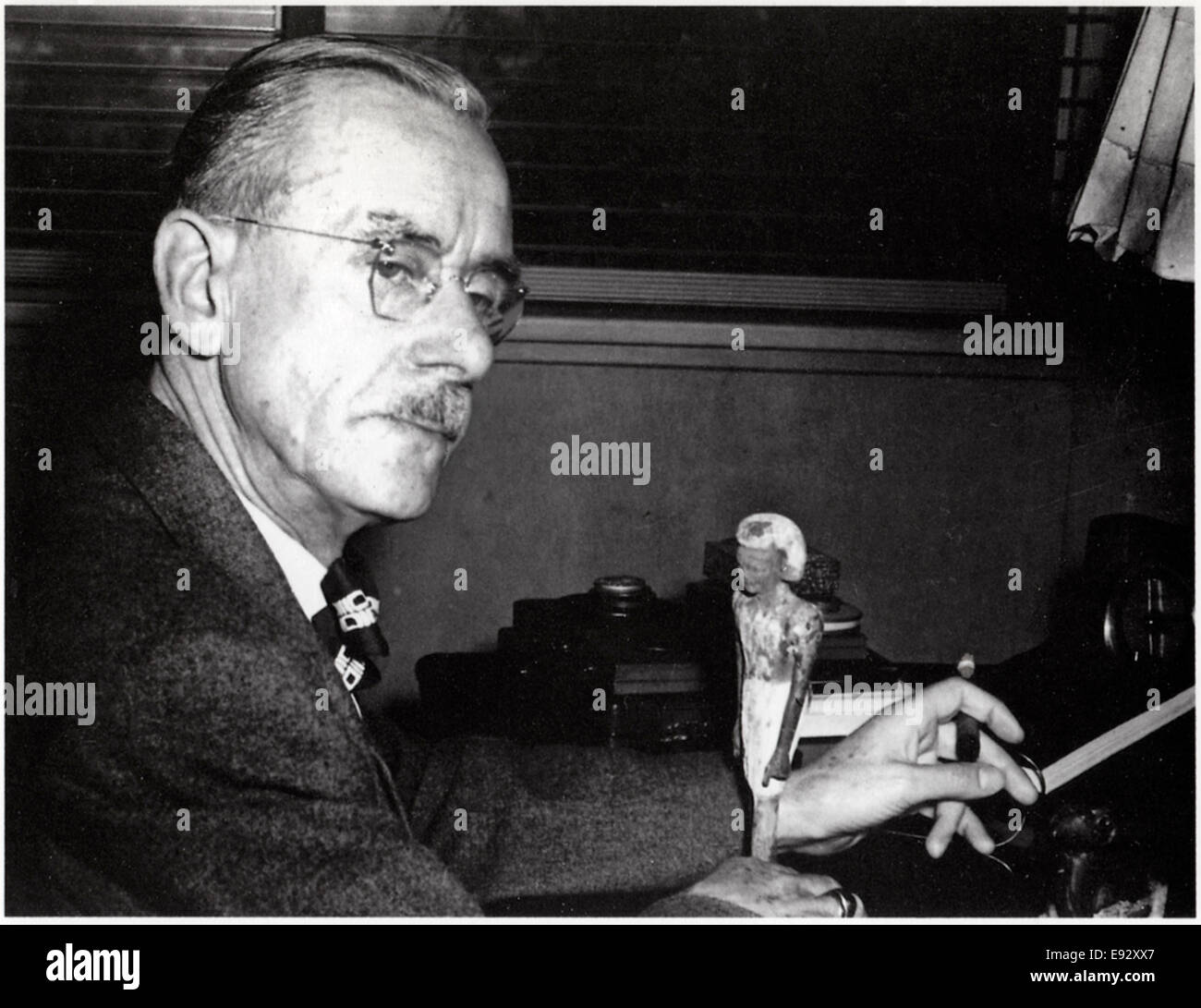 Thomas Mann (1875-1955), German Novelist, Portrait, circa 1940's - Stock Image