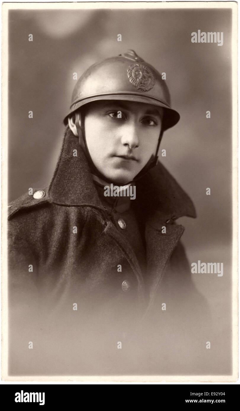 French Soldier, World War I, Portrait, circa 1914 - Stock Image