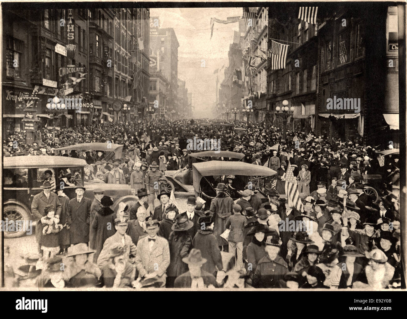 WWI Victory Celebration, New York City, USA, November 11, 1918 - Stock Image