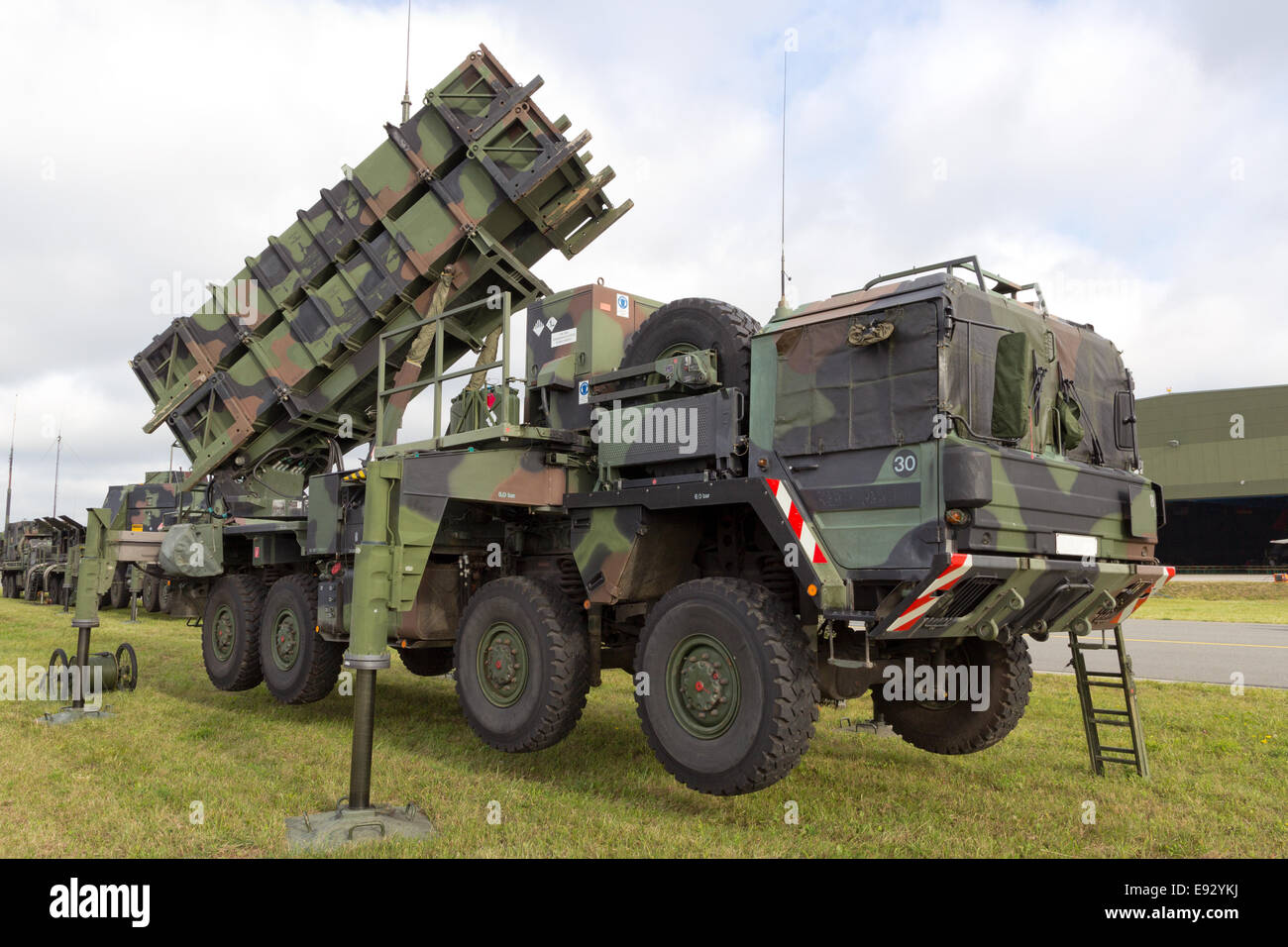 German Patriot Anti aircraft missile system - Stock Image