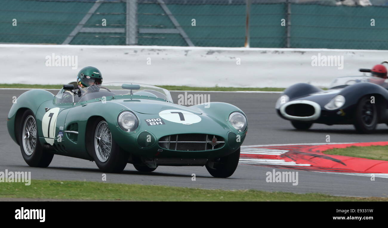 Awesome Aston Martin DBR1, Stirling Moss Trophy For Pre 1961 Sports Cars,  Silverstone Classic 2014