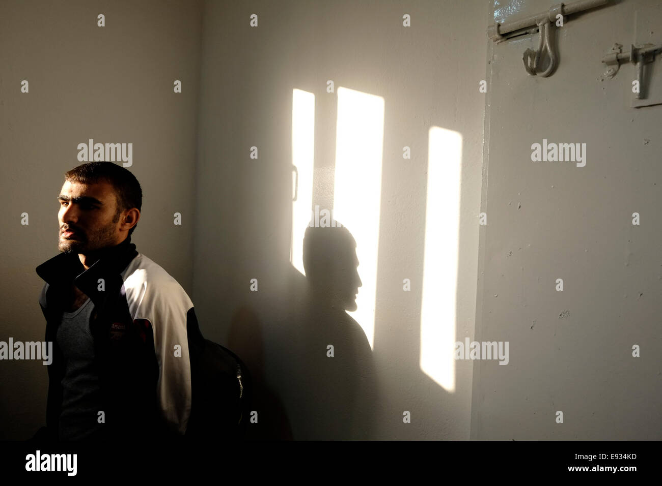 NORTHERN IRAQ - SULAYMANIYAH 09 OCTOBER:  A captured ISIS militant by the name of Sina Obeid from Anbar province - Stock Image