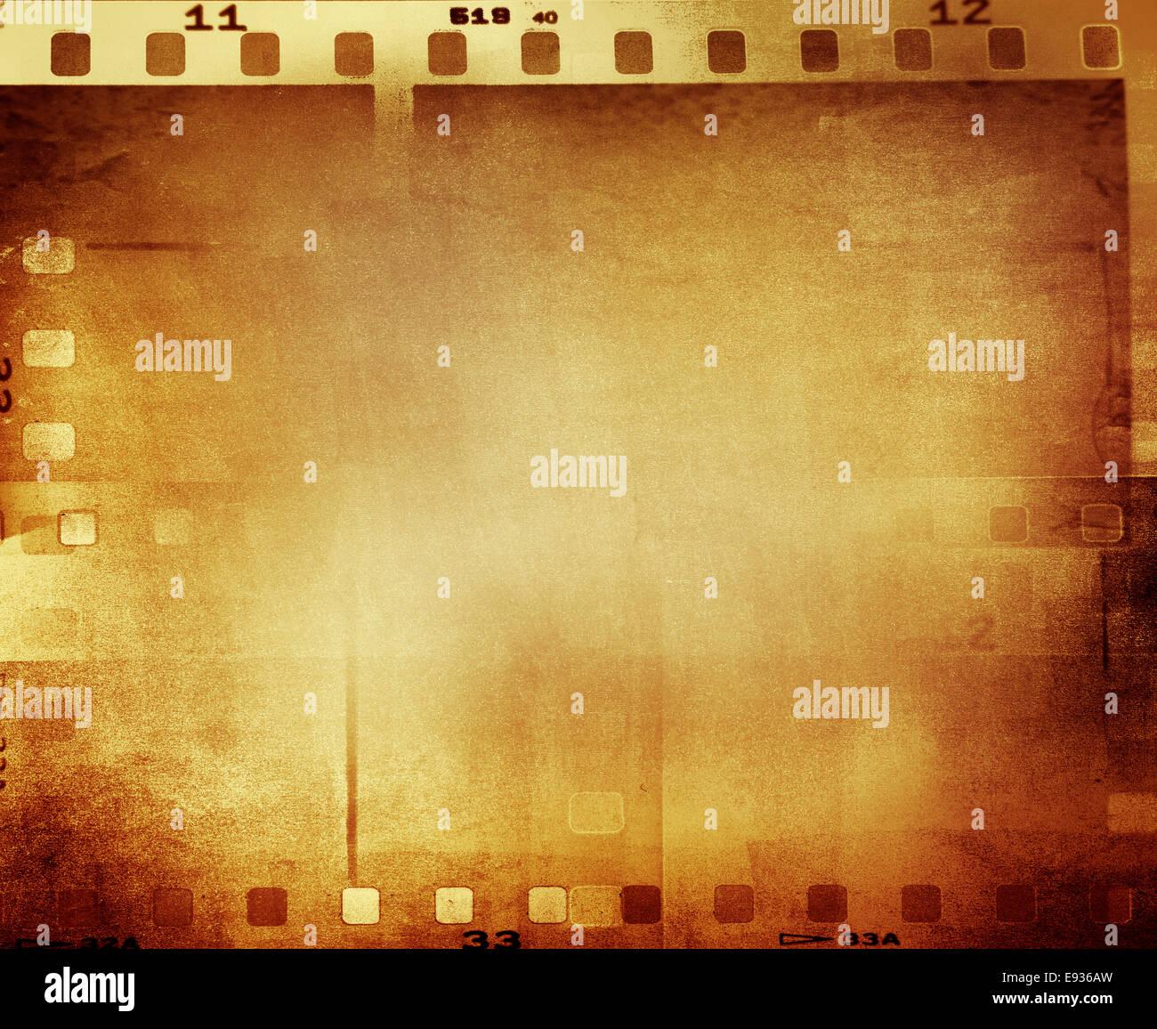Film negative frames, film strips border Stock Photo