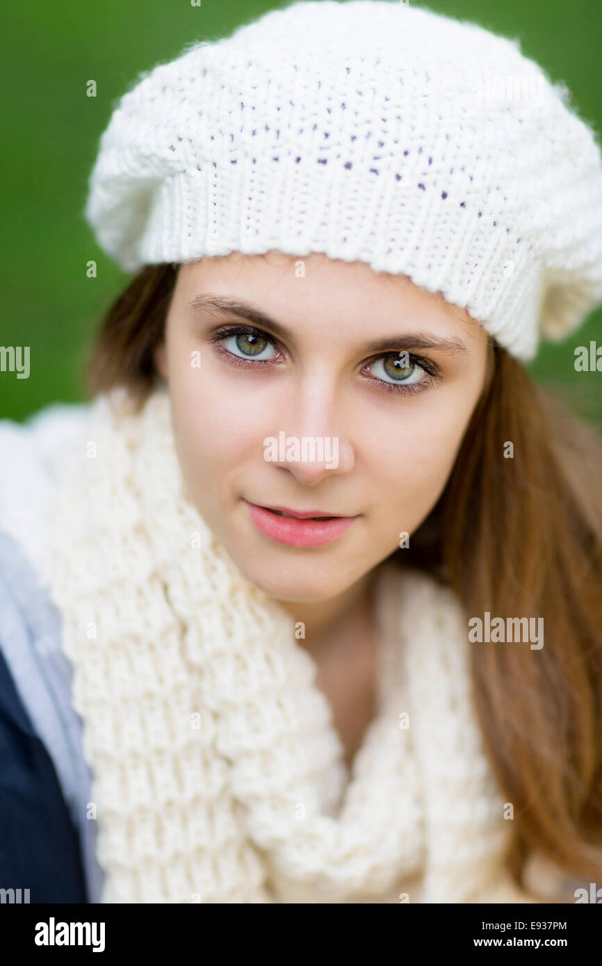 Portrait of teenage girl - Stock Image