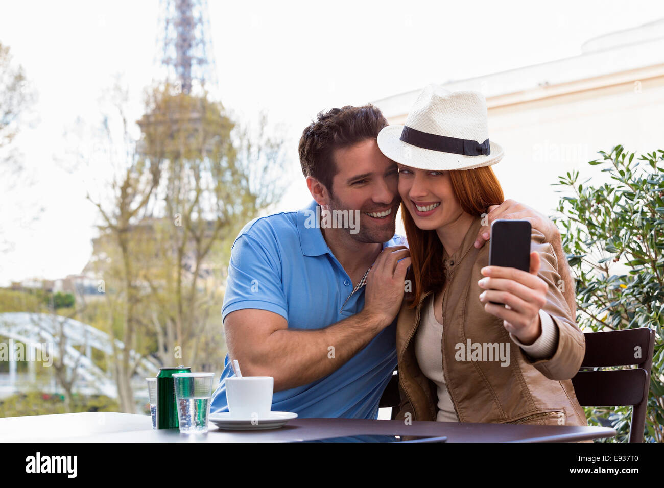Couple Visiting Paris Stock Photo