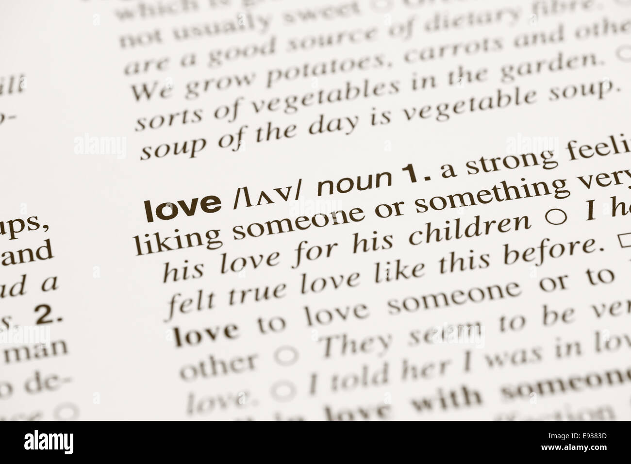 definition of love stock photos & definition of love stock images