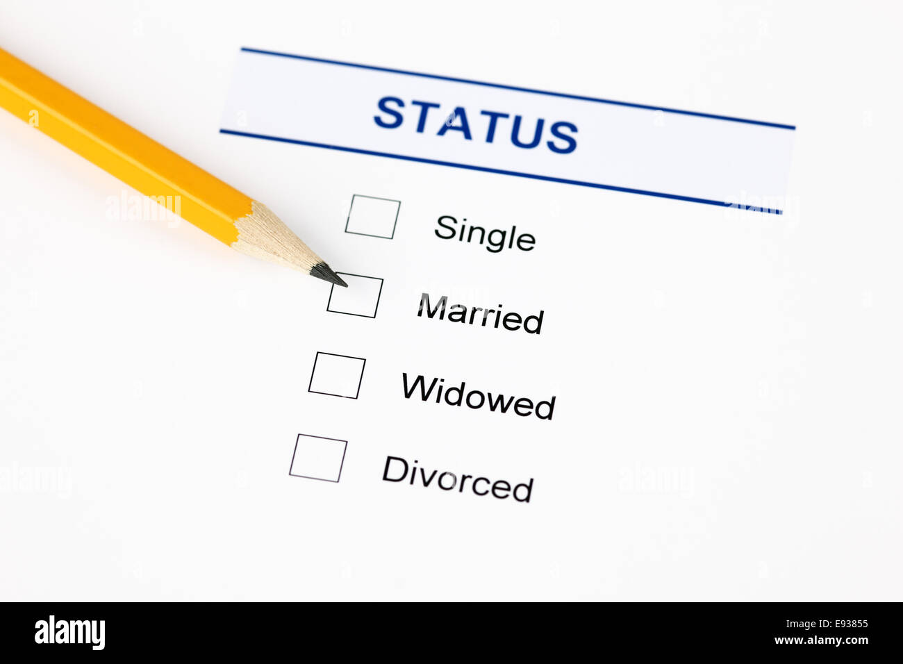 Marital Status High Resolution Stock Photography And Images Alamy