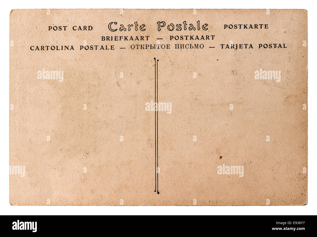 Carte Postale Retro carte postale cut out stock images & pictures - alamy