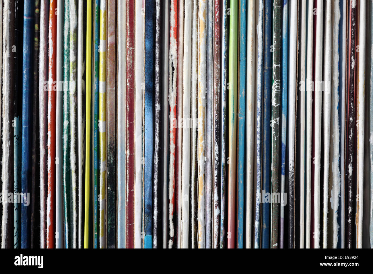 Collection of old vinyl records. - Stock Image