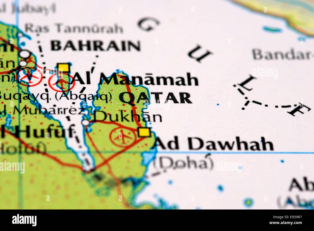 Map Of Qatar Stock Photos Map Of Qatar Stock Images Alamy