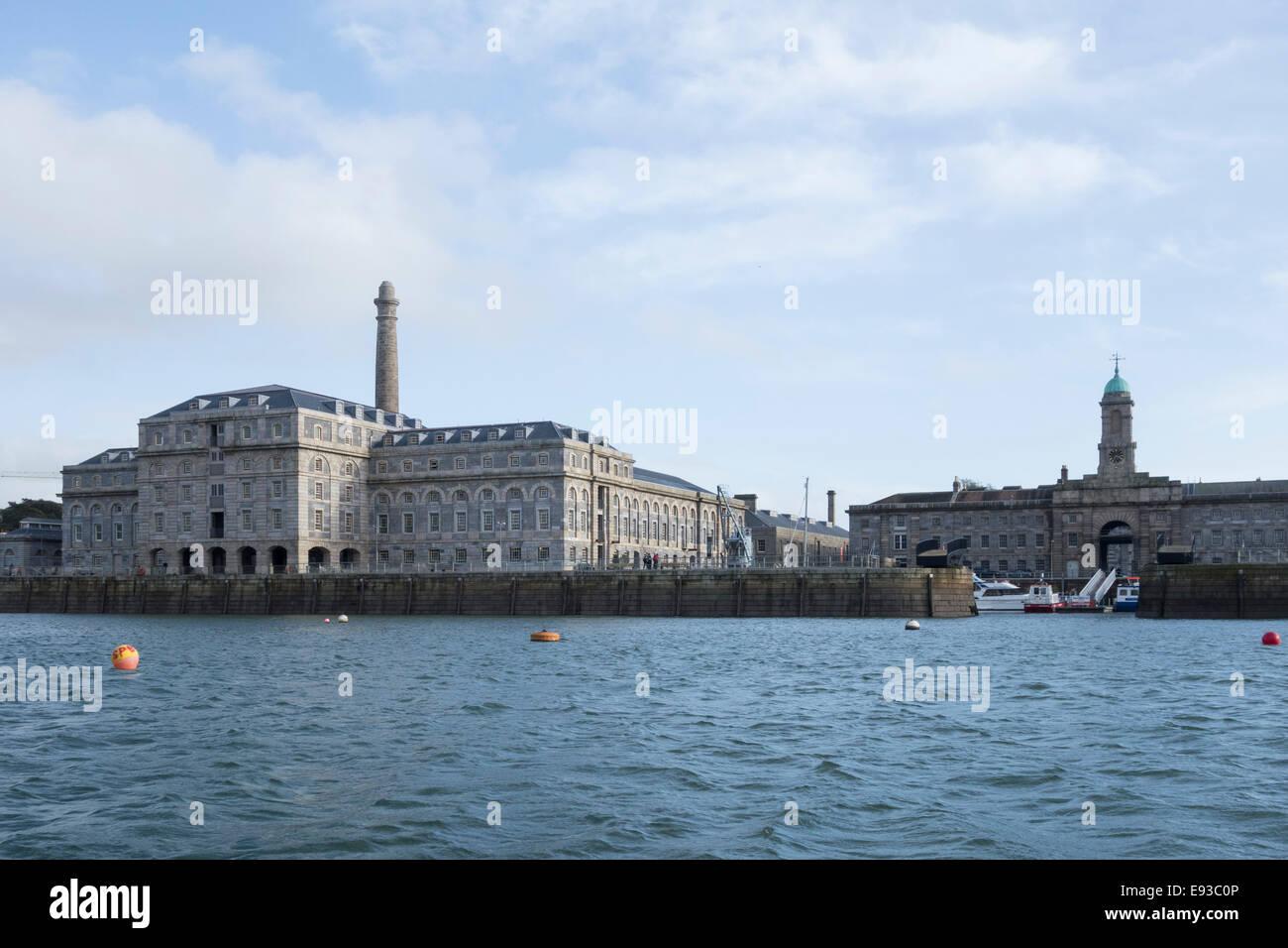 Royal William Boatyard at Plymouth. - Stock Image