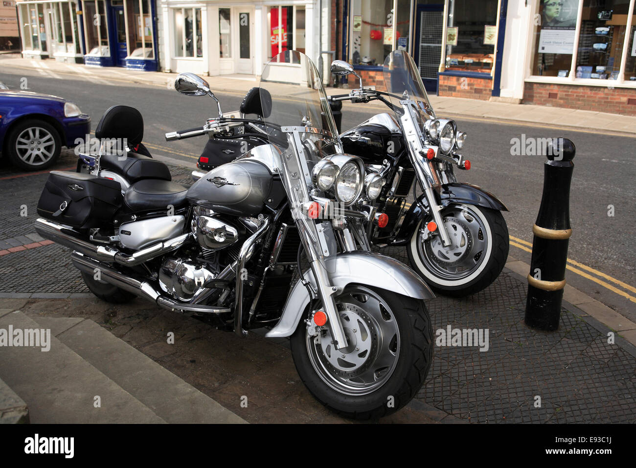2851. Suzuki Boulevard motorbikes, UK - Stock Image