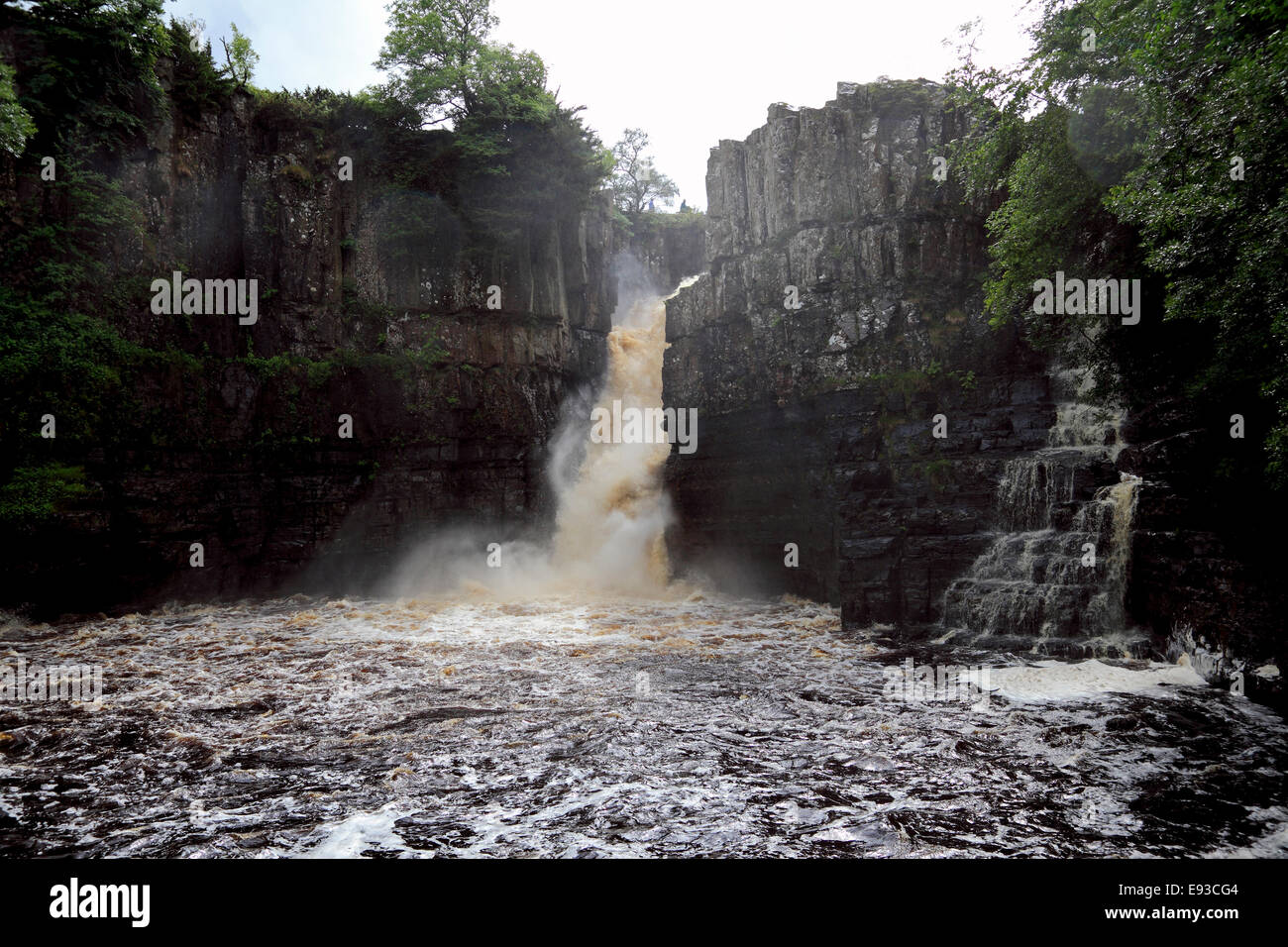 3229. High Force Waterfall, River Tees, Teesdale, Durham, UK - Stock Image