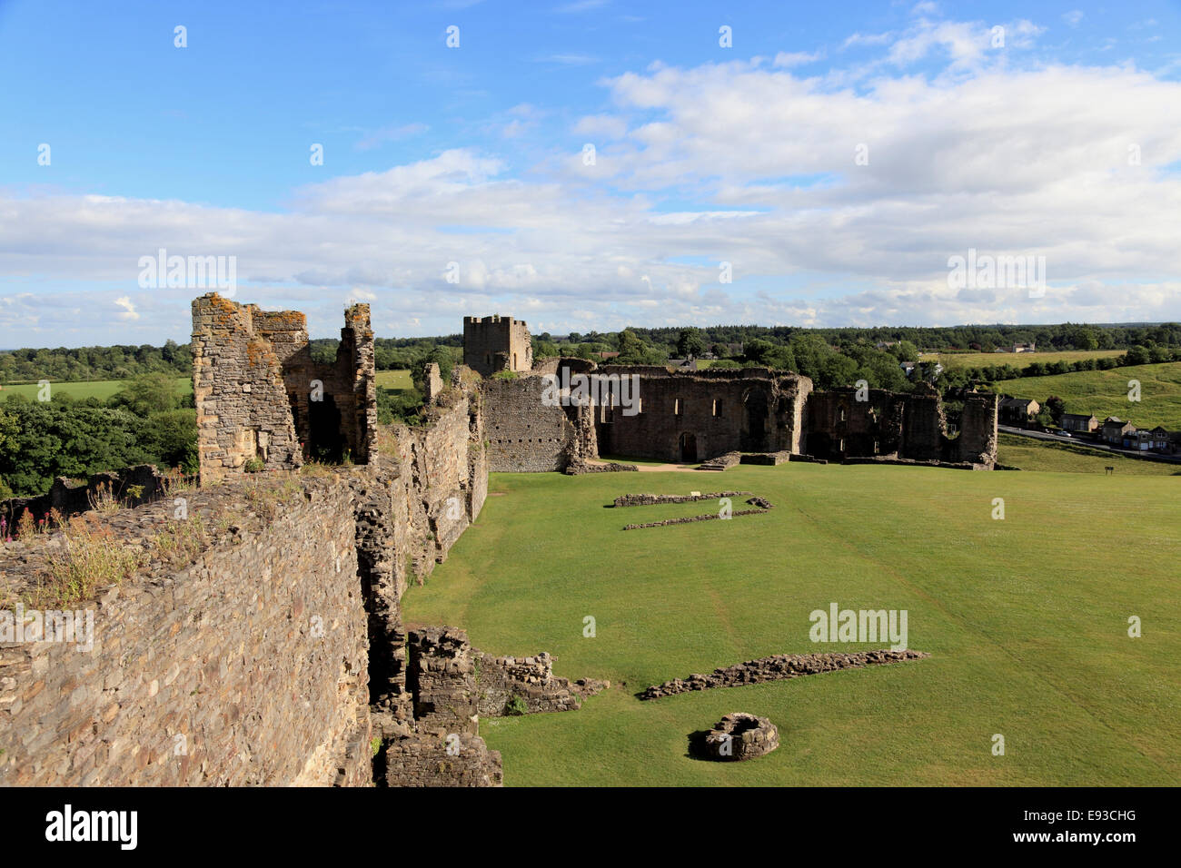 3256. The Castle, Richmond, North Yorkshire, UK Stock Photo