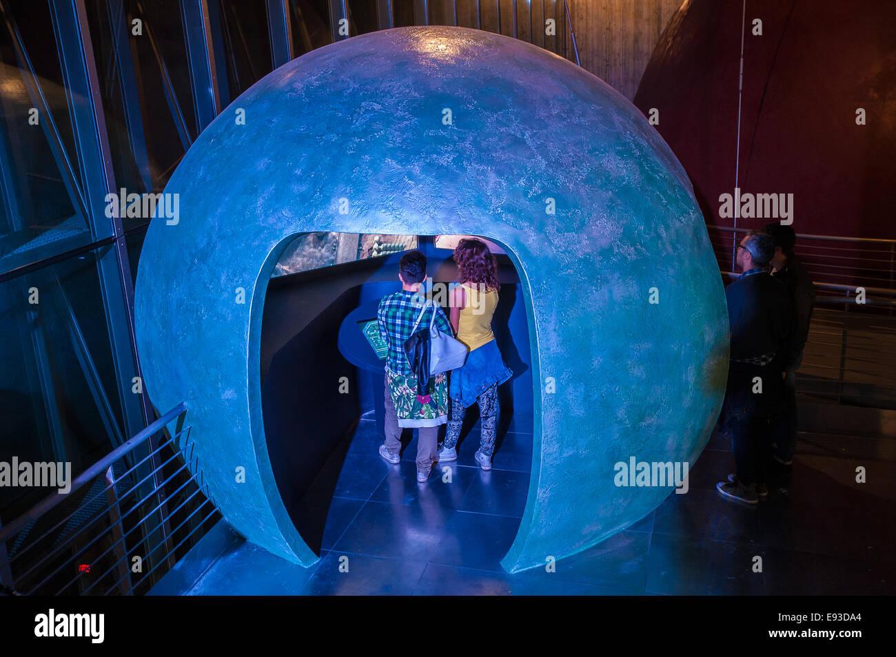 Italy Piedmont Turin Pino Torinese Inauguration of the new museum area of the Turin Museum Planetarium Astronomy - Stock Image