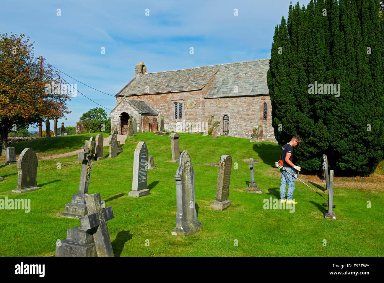 St Cuthbert's Church, Clifton, Cumbria, England UK - Stock Image