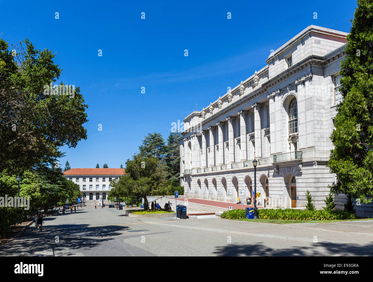 Wheeler Hall at the University of California Berkeley, Berkeley, California, USA - Stock Image