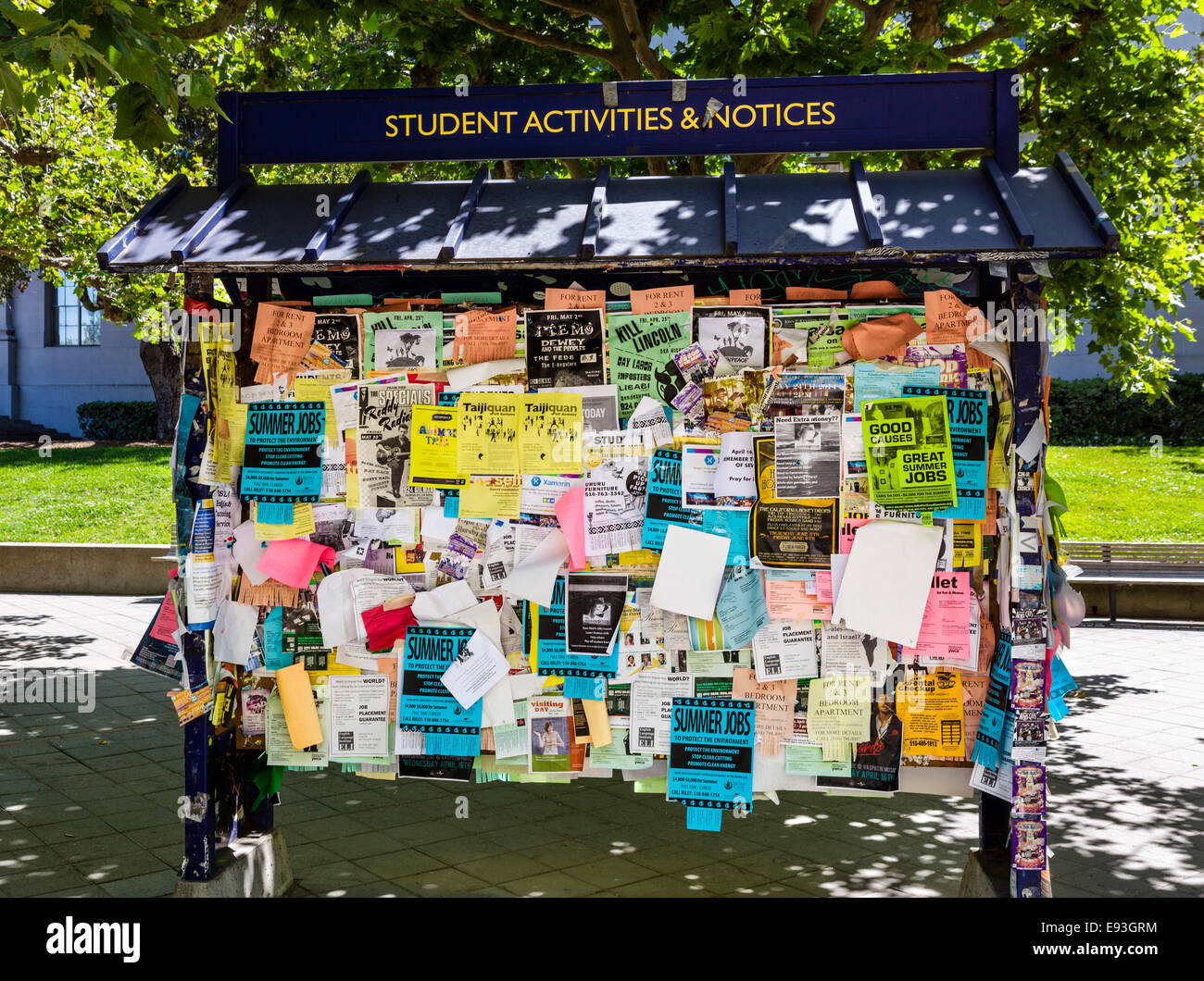 Student Notice Board on the University of California
