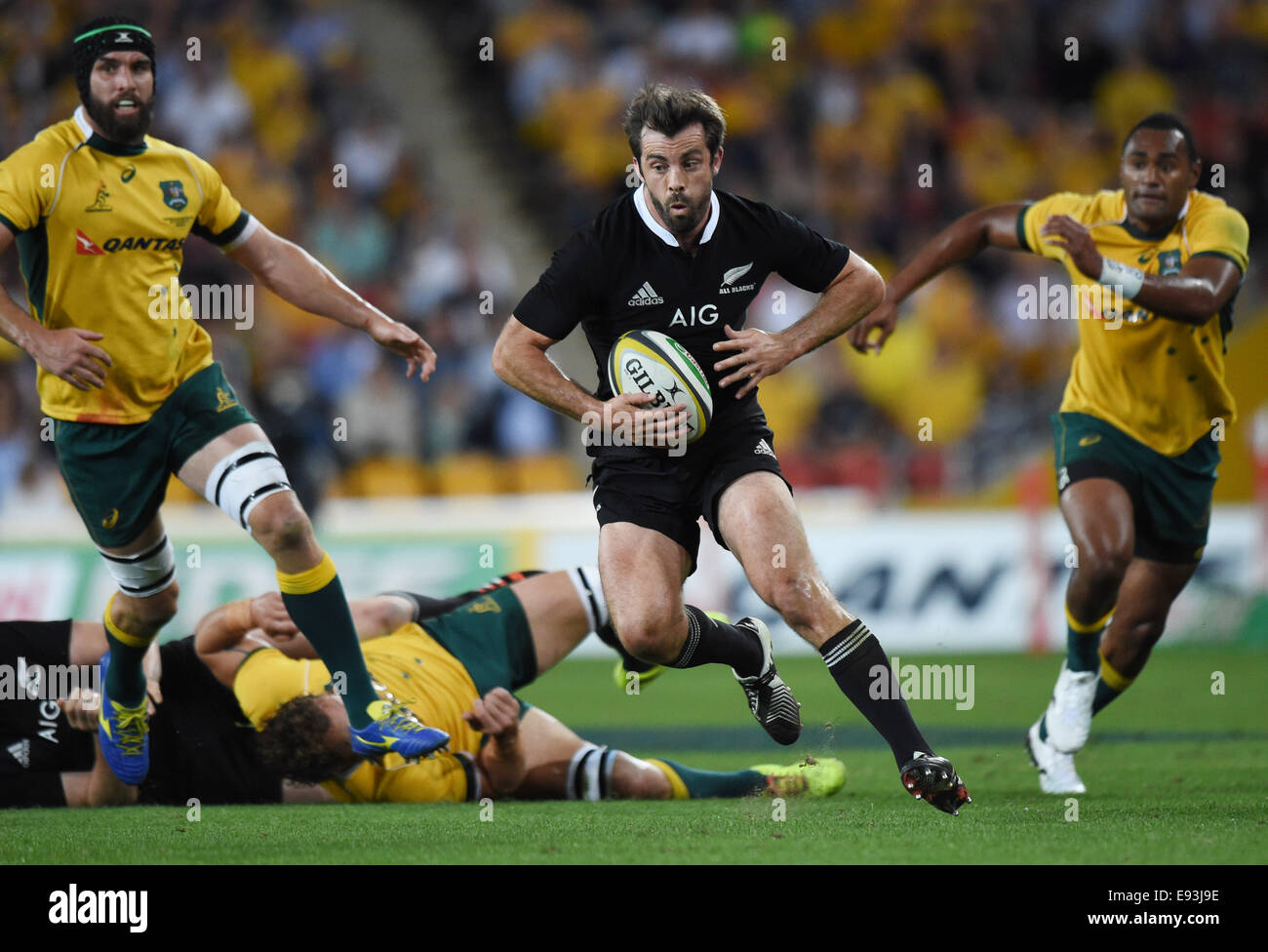 Suncorp Stadium Brisbane Australia 18th Oct 2014 Conrad Smith Stock Photo Alamy